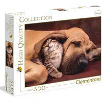 Puslespill 500 Cuddles Clementoni