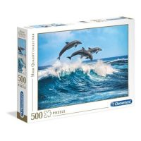 Puslespill 500 Dolphins Clementoni
