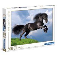 Puslespill 500 Fresian Black Horse Clementoni