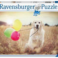 Puslespill 500 Hund Med Ballonger Ravensburger