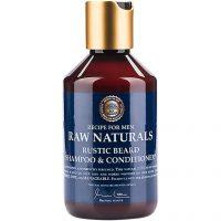 Raw Naturals Rustic Beard Shampoo & Conditioner, 250 ml Raw Naturals by Recipe for Men Skjeggshampoo & Skjeggbalsam