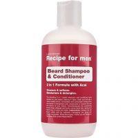 Recipe for Men Beard Shampoo & Conditioner, 250 ml Recipe for men Skjeggshampoo & Skjeggbalsam