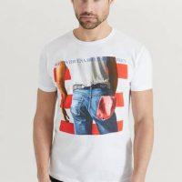 Rock Off T-shirt Bruce Springsteen Tee Hvit