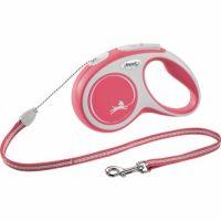Rødt Flexi New Comfort hundebånd (Snor 0-20kg)
