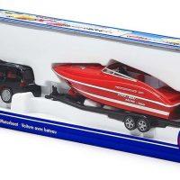 SIKU Personbil Med Motorbåt 1:55