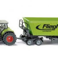 SIKU Traktor Claas Axion Med Tipphenger 1:50