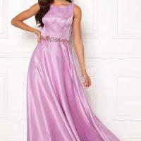 SUSANNA RIVIERI Ceremonial Satin Dress Violet 38