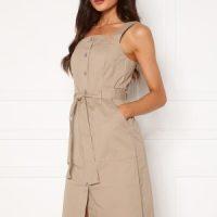 VERO MODA Julia Cotton Dress Silver Mink XS