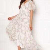 VERO MODA Wonda S/S Wrap Maxi Dress Snow White AOP XS