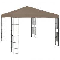 vidaXL Paviljong 3x3 m gråbrun
