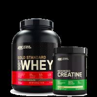 100% Whey Gold Standard, 2273 g + Creatine Powder, 300 g
