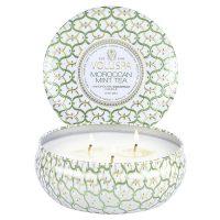 3- Wick Tin Candle 40 Tim - Moroccan Mint Teea Duftlys