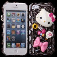 3D Cuties Ceramic (Bowknot og settty) iPhone 5 Deksel
