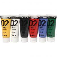 A-Color - Akrylmaling - Matt - (6 x 20 ml)