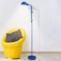 Alani gulvlampe med tippebryter, blå