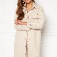 BUBBLEROOM Alice Long Shirt Jacket Beige L
