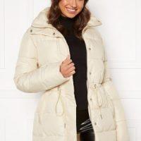 BUBBLEROOM Ellinora tie waist puffer jacket Beige 40