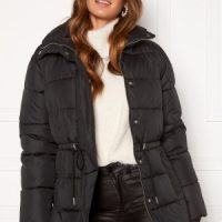 BUBBLEROOM Ellinora tie waist puffer jacket Black 40