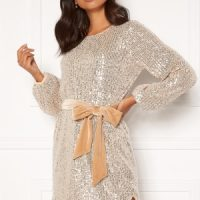 BUBBLEROOM Sanja sparkling dress Champagne / Silver 38