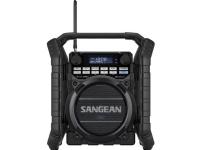 Byggepladsradio Sangean Utility-40 DBT DAB+, FM Batteriopladningsfunktion, genopladelig, vandtæt, stødsikker Sort