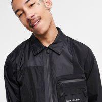 Calvin Klein Jeans hybrid overshirt in black