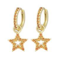 Charms øreringer med stjerne