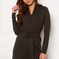 Chiara Forthi Abruzzo knitted tie band cardigan Anthracite XL