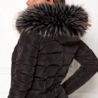 Chiara Forthi Chiara Faux Fur Collar Black / White / Brown One size