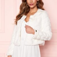 Chiara Forthi Diva short party faux fur Offwhite 42