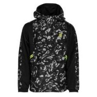 Dortmund Jakke Woven 1/2 Zip Tailored For Sports - Sort/Gul