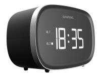 Grundig SONOCLOCK 3000 - Klokkeradio - 2 watt - svart