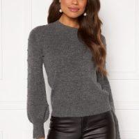 Happy Holly Edith knitted sweater Dark grey / Melange 52/54