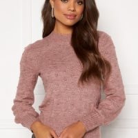 Happy Holly Edith knitted sweater Dusty pink / Melange 48/50
