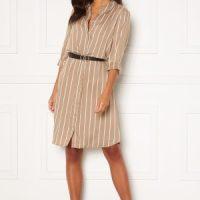Happy Holly Juliette shirt dress Beige / Offwhite 48/50
