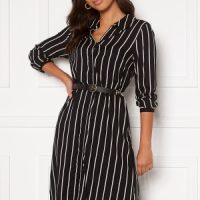 Happy Holly Juliette shirt dress Black / Offwhite 44/46