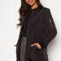 Happy Holly Noelle long bomber jacket Black 32/34