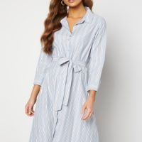 Happy Holly Sanna shirt dress Blue / Striped 36/38