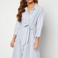 Happy Holly Sanna shirt dress Blue / Striped 40/42