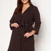 Happy Holly Thea shirt dress Black / Striped 36/38