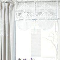Hekleoppskrift Vakkert til bord og vindu