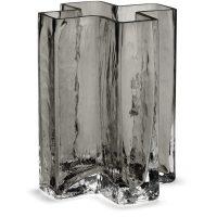 Holmegaard Crosses Vase Smoke 12 cm