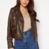 JOFAMA Kaley Leather Biker Brownie 44