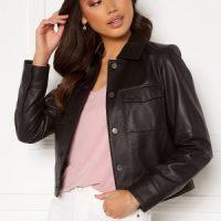 JOFAMA Lynn Leather Jacket Black 34