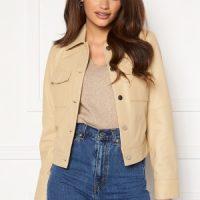 JOFAMA Lynn Leather Jacket Sand 44