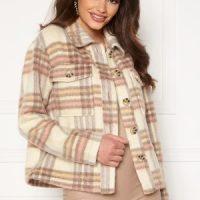 Jacqueline de Yong Loles Check Shirt Jacket Woodrose L