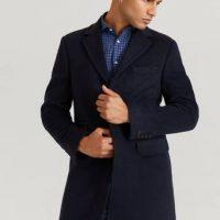 Morris Frakk Wesley Wool Cashmere Coat Blå