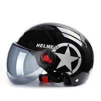 Motorcycle Helmets Electric Bicycle Helmet Open Face Dual Lens Visors Men Women Summer Scooter Motorbike Moto Bike Helme