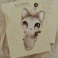 Mrs Mighetto Wallsticker, Dear Meow
