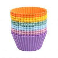 Muffinsformer, fargemiks regnbuepastell, 12-pakning