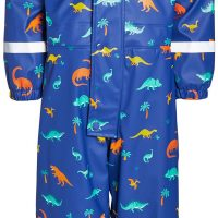 Nordbjørn Kattegatt Foret Regndress, Twilight Blue Dino, 110